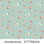 floral retro background... | Shutterstock .eps vector #377798164