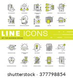 thin line icons set. business... | Shutterstock .eps vector #377798854
