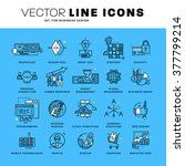 thin line icons set. business... | Shutterstock .eps vector #377799214