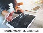 website designer working... | Shutterstock . vector #377800768
