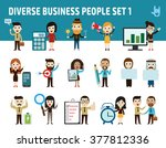 set nationality difference... | Shutterstock .eps vector #377812336
