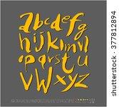 alphabet   number   handwriting ... | Shutterstock .eps vector #377812894