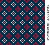 seamless pattern thai art | Shutterstock .eps vector #377813458