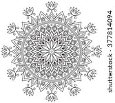 mandala. ethnic decorative... | Shutterstock .eps vector #377814094