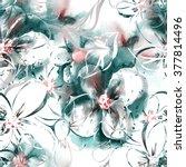 floral seamless pattern | Shutterstock . vector #377814496