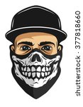 a guy in a baseball cap  and a... | Shutterstock .eps vector #377818660