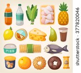 set of common goods and... | Shutterstock .eps vector #377820046