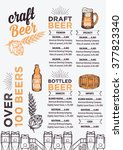 beer restaurant brochure vector ... | Shutterstock .eps vector #377823340