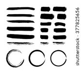 set of black ink vector stains | Shutterstock .eps vector #377825656