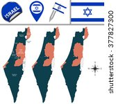 vector map of israel with named ...   Shutterstock .eps vector #377827300