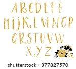gold textured hand drawn...   Shutterstock .eps vector #377827570