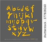 alphabet   number   handwriting ... | Shutterstock .eps vector #377828260