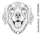 Golden Retriever Dog Zentangle...