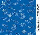 children's toys  seamless... | Shutterstock .eps vector #377830459