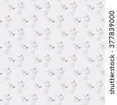 seamless floral pattern | Shutterstock .eps vector #377839000