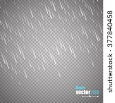 vector rain isolated on... | Shutterstock .eps vector #377840458
