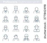 flat line vector avatars group...