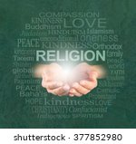 the only true religion is... | Shutterstock . vector #377852980