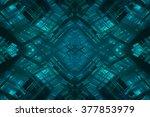abstract blue fractal... | Shutterstock . vector #377853979