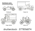 set of vintage cars. vector | Shutterstock .eps vector #377856874