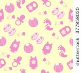 seamless pattern with colorful...   Shutterstock .eps vector #377858020