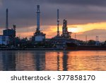 oil refinery industry plant at... | Shutterstock . vector #377858170