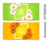bright spring banners design.... | Shutterstock .eps vector #377858326