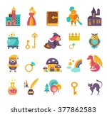 collection of vector fairy tale ... | Shutterstock .eps vector #377862583