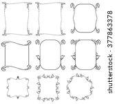 frame set. vector decorative... | Shutterstock .eps vector #377863378