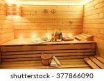 Sauna Room With Traditional...