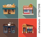 stores and shop facades. vector ...