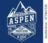 colorado mountain sport... | Shutterstock .eps vector #377867530