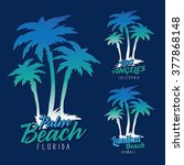 beach  palm typography  t... | Shutterstock .eps vector #377868148