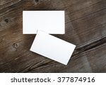 photo of blank business cards... | Shutterstock . vector #377874916