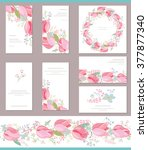 floral spring templates with... | Shutterstock .eps vector #377877340