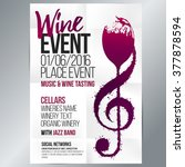 design for wine event. suitable ... | Shutterstock .eps vector #377878594