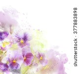 watercolor card with beautiful... | Shutterstock . vector #377883898