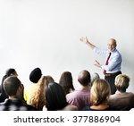business team seminar listening