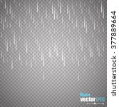 vector rain isolated on... | Shutterstock .eps vector #377889664