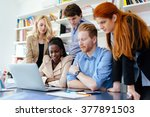business people collaborating... | Shutterstock . vector #377891503