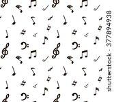 notes. seamless pattern. | Shutterstock .eps vector #377894938