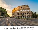 Rome Italy  Sunrise At...