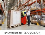 wholesale  logistic  people and ...   Shutterstock . vector #377905774