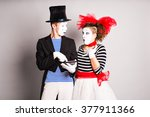 Two Mimes Use Of Tablet   April ...