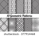 set of 10 abstract patterns.... | Shutterstock .eps vector #377914468
