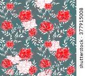 flowers roses pattern | Shutterstock . vector #377915008