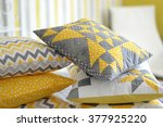 Patchwork Quilt Pillows In Gra...