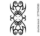 tattoo tribal vector design... | Shutterstock .eps vector #377940580