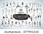 big bundle people characters... | Shutterstock .eps vector #377941210
