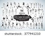 big bundle people characters... | Shutterstock .eps vector #377941210